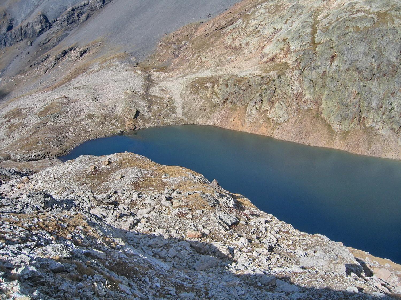 la partie N du lac, vue du haut