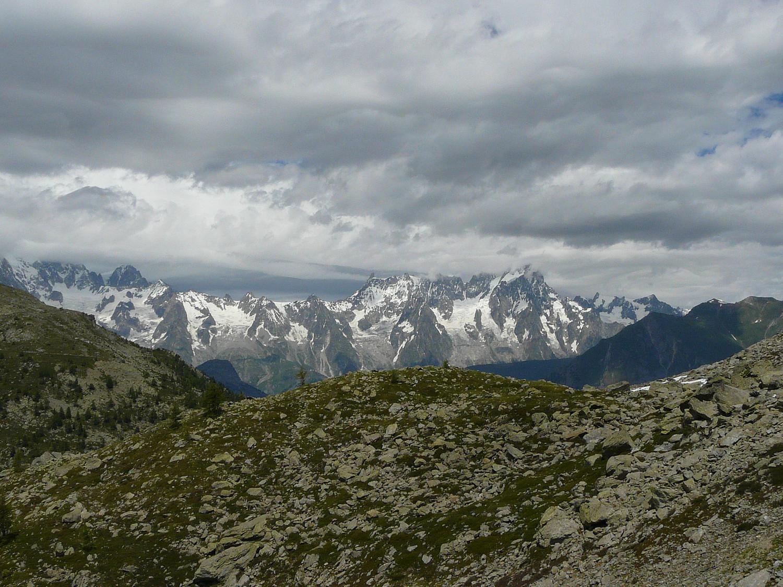 Ciel chargé sur le massif du Mont Blanc