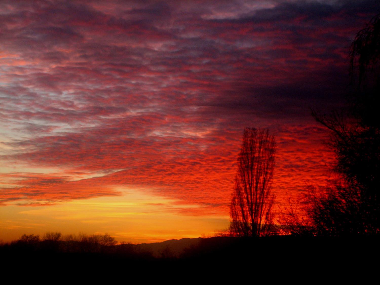 Couché de soleil près du Jura