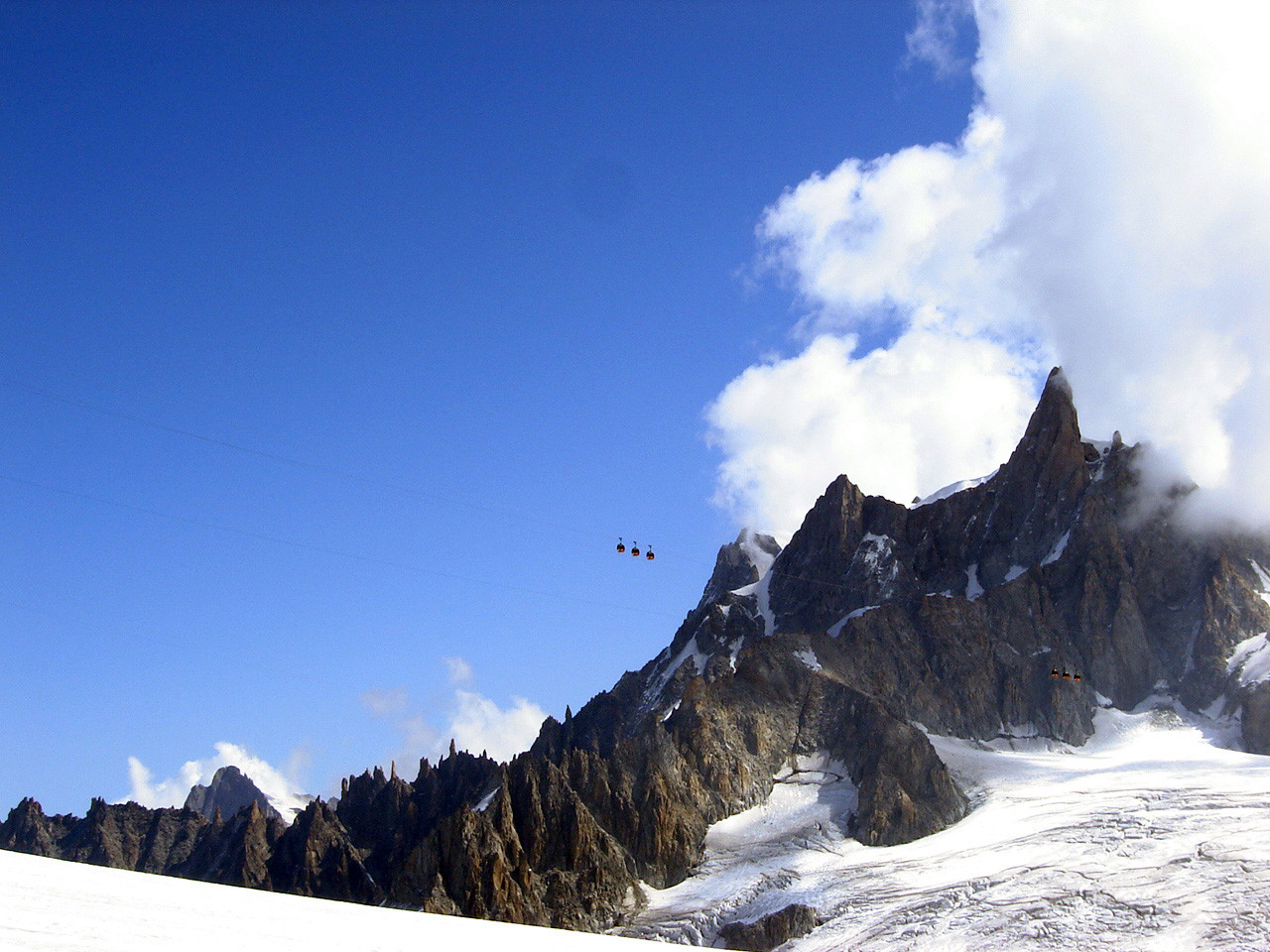 Panoramique Mont Blanc et Dent du Géant