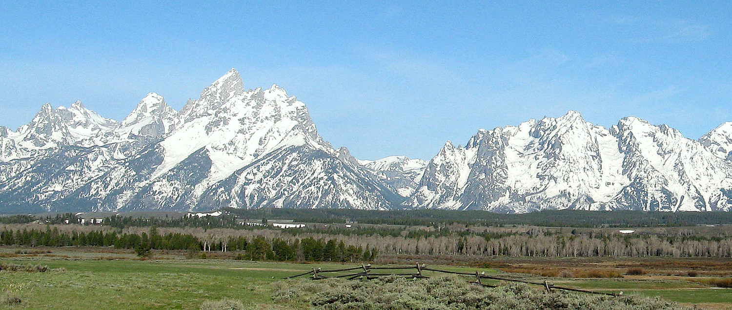 Chaine du Grand Teton dans le Grand Teton National Park (Etats-Unis)