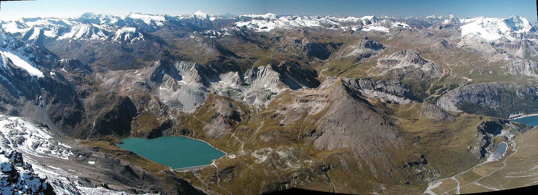 Aig. de la Grande Sassière, panorama sur la Vanoise