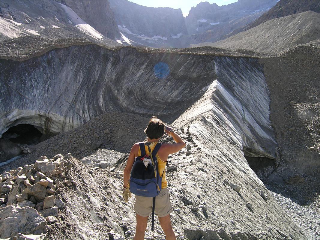 Affleurement du glacier de la Plate des Agneaux