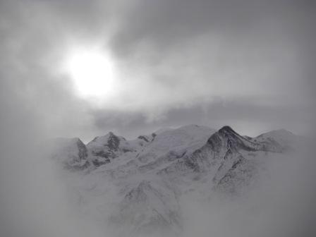 Mont Blanc et brume