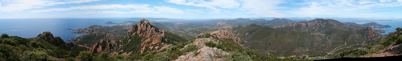 Panorama sur l'Estérel, vu du Pic Roux
