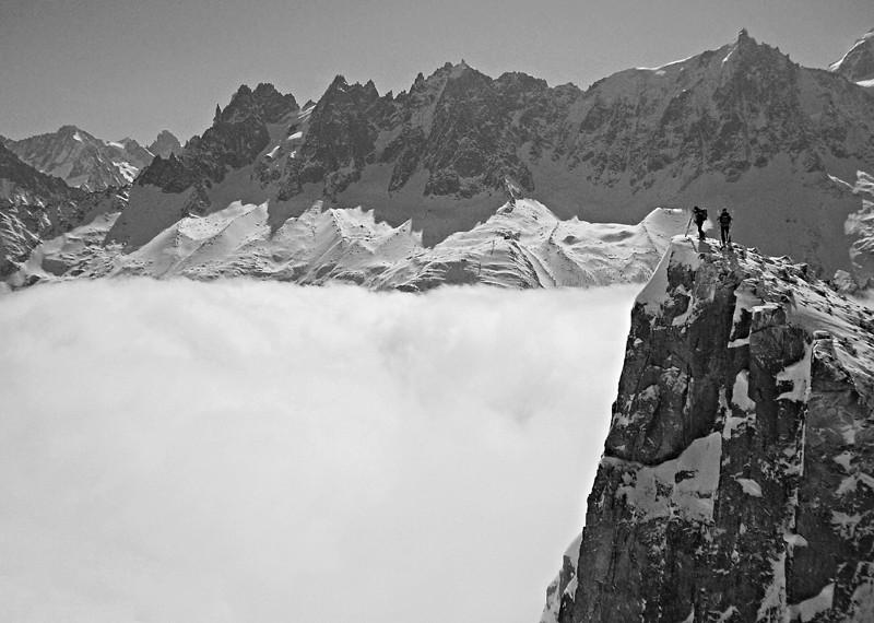 Massif du Mont Blanc et mer de nuages