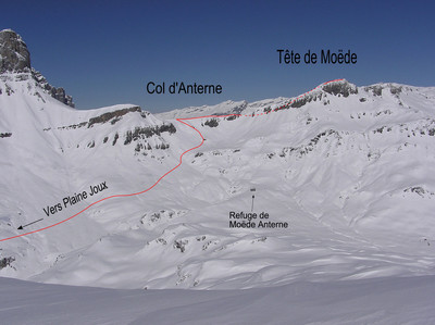 Tête de Moëde from Plaine Joux