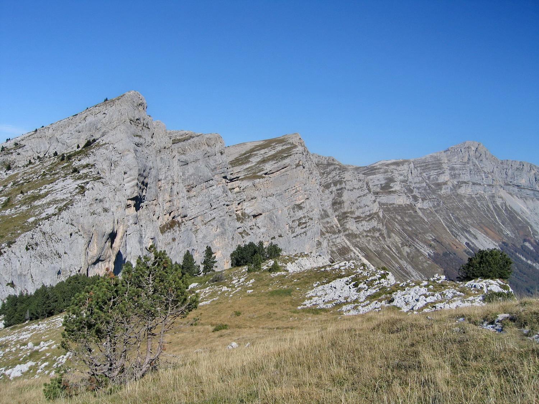 les rochers de la balme, du haut du pas ernadant
