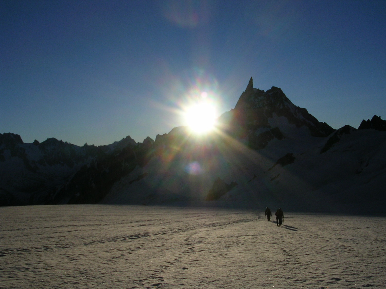 cordée glacier du géant