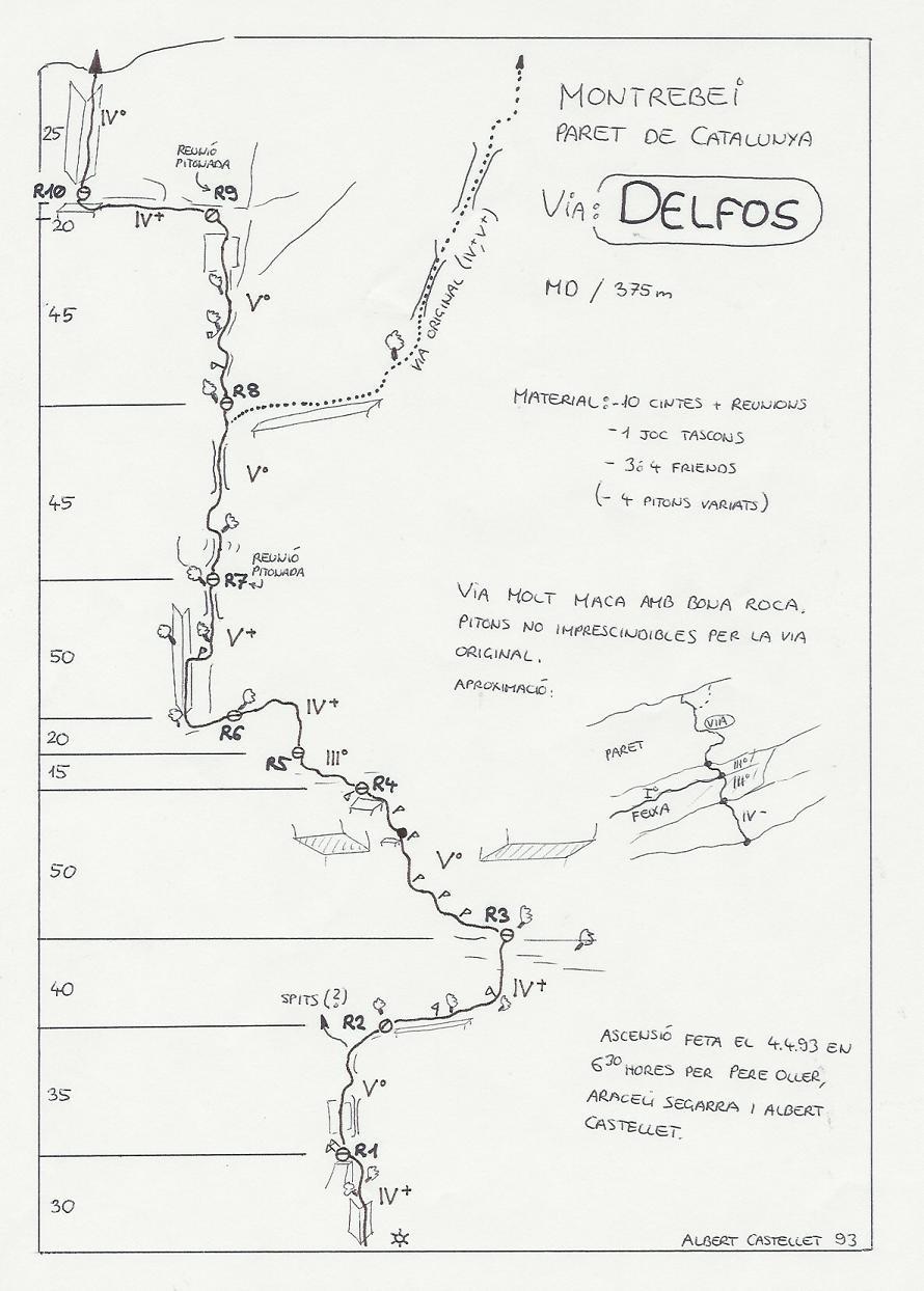 Topo Montrebei - Paret de Catalunya : Delfos