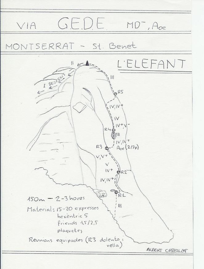 Topo Montserrat - Sant Benet : Elefant, GEDE