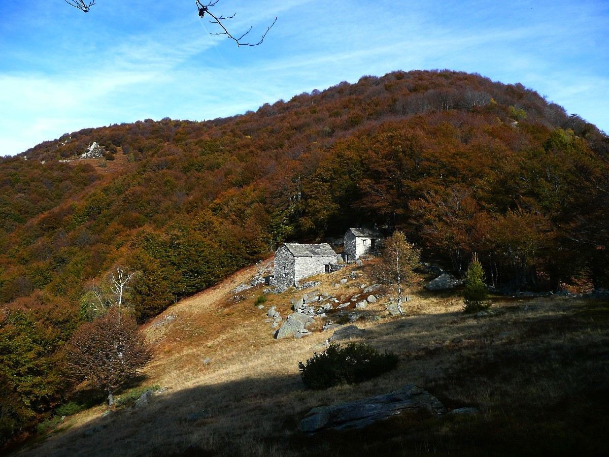 Montée au Salmone (Valle Onsernone, Tessin) : alpage de Forcla