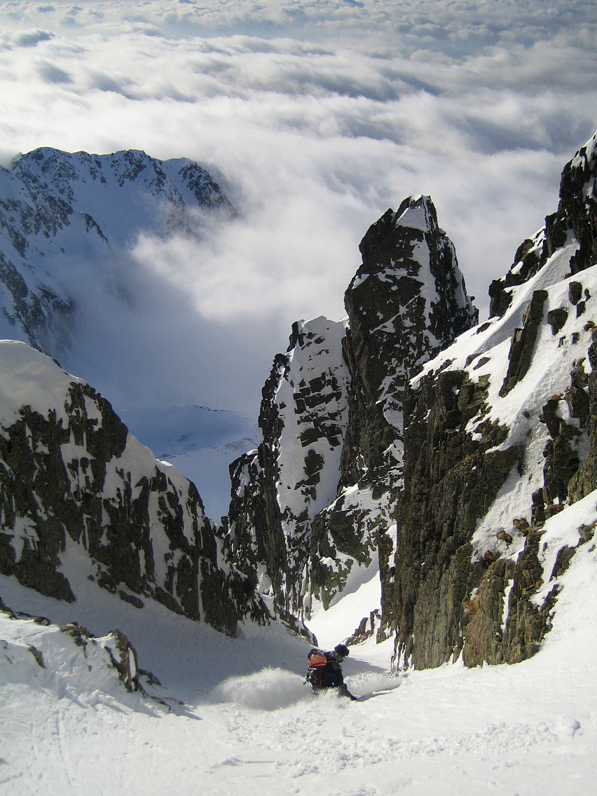 Descente du Couloir W de la Brèche N du Pic de la Grande Valloire