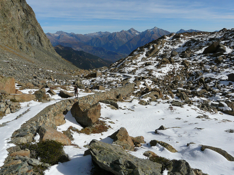 Le chemin muletier du temps des mines parc Mont Avic