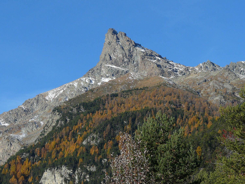 Le Mont Avic depuis Vella (Val d'Aoste)