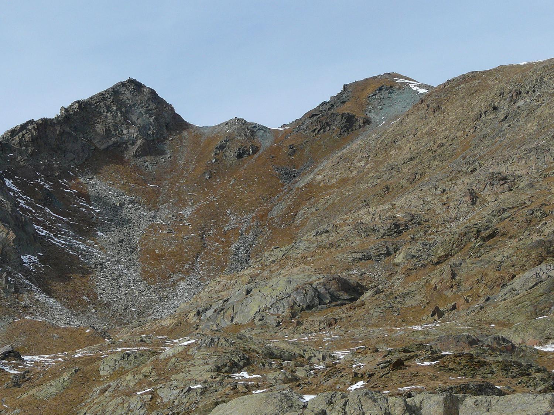 La pointe de Medzove (à gauche) vue depuis le Grand Lac