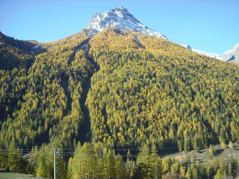 Vue depuis la ferme auberge du Plan de la Tour (Epinel, Val di Cogne).