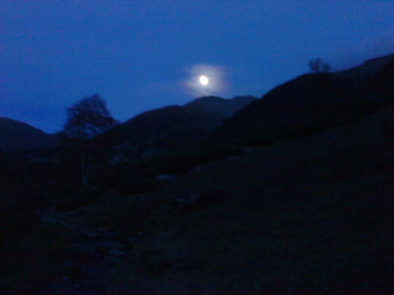 Le halo de la lune (le reste est flou)