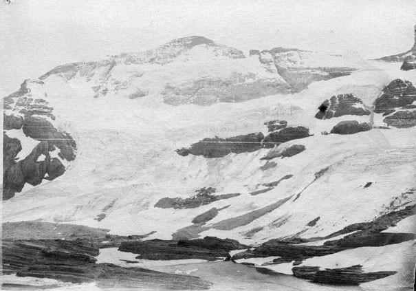 Le Mont-Perdu, glacier et lac glacé vu de Tuquerouye, octobre 1892