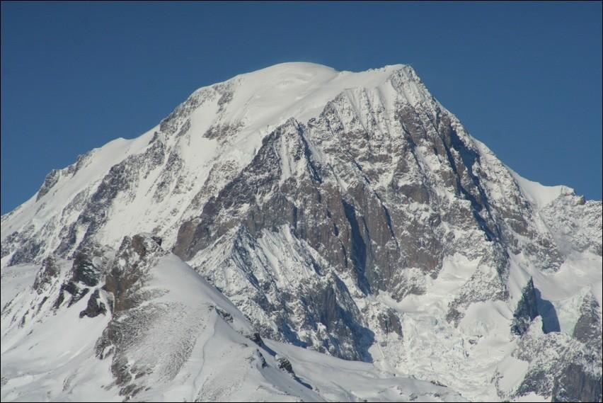 Le Mont Blanc, vu du col de la Traversette