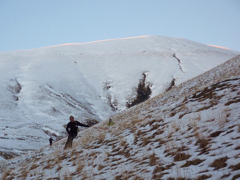 Ski sur mixte neige/herbe