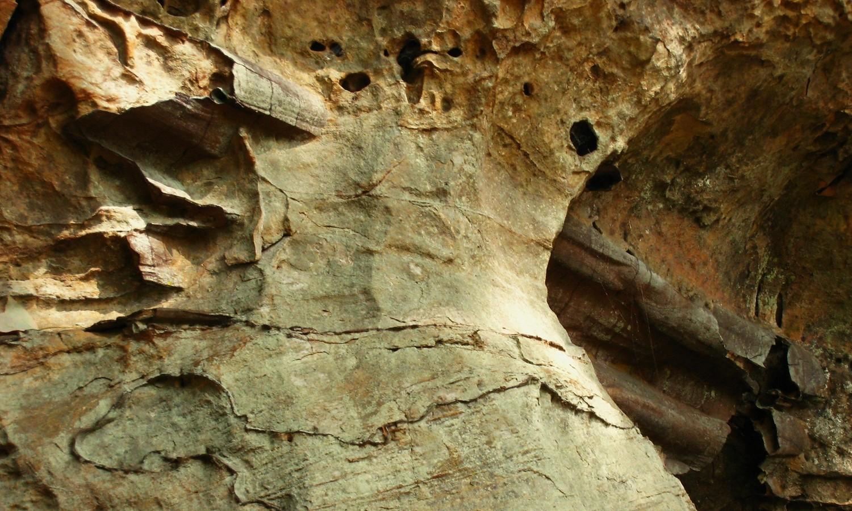 Limonite et grès, Red River Gorge, USA