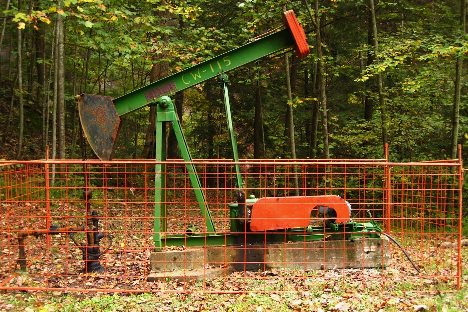 Puits de pétrole, Red River Gorge, USA