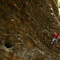 De Bibliotek Wall, Red River Gorge, USA