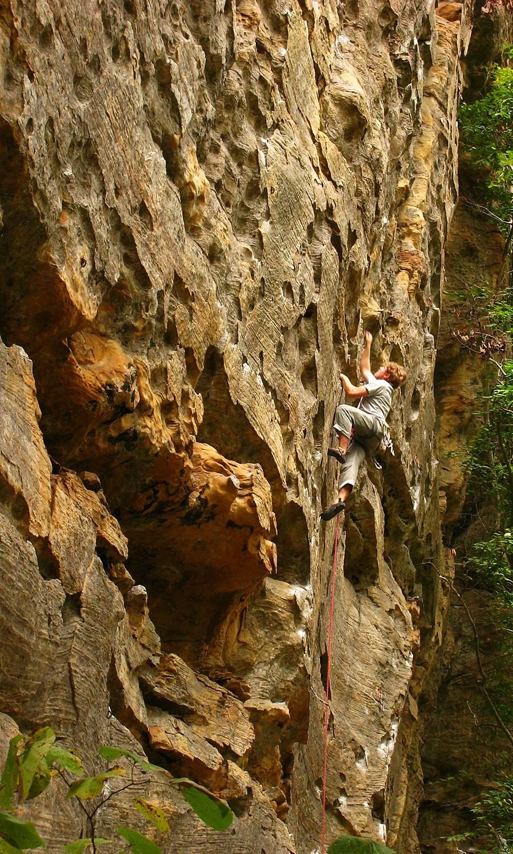 Yadda Yadda Yadda (5.11b), Drive-By Crag, Red River Gorge, USA