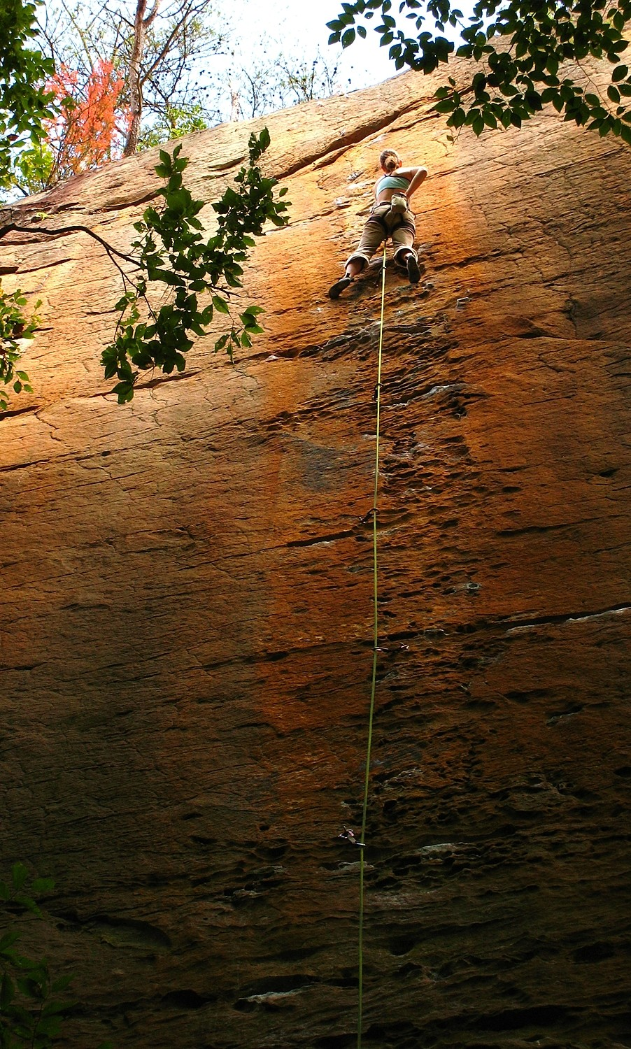 Orange Juice (5.12c), Funk-Rock City, Red River Gorge, USA