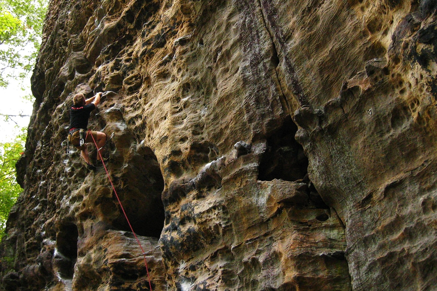 Green Horn (5.11), Solar Collector, Red River Gorge, USA