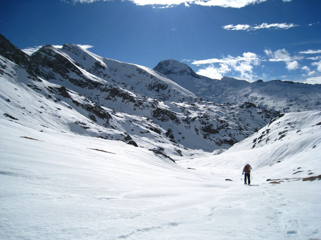 Les sommets des montagnes de Haute Serre... superbes!