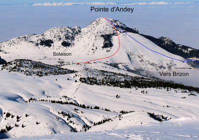 Pointe d'Andey from Solaison or Brizon