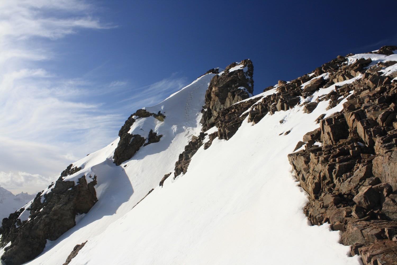 Le sommet - Les derniers mètres d'arête