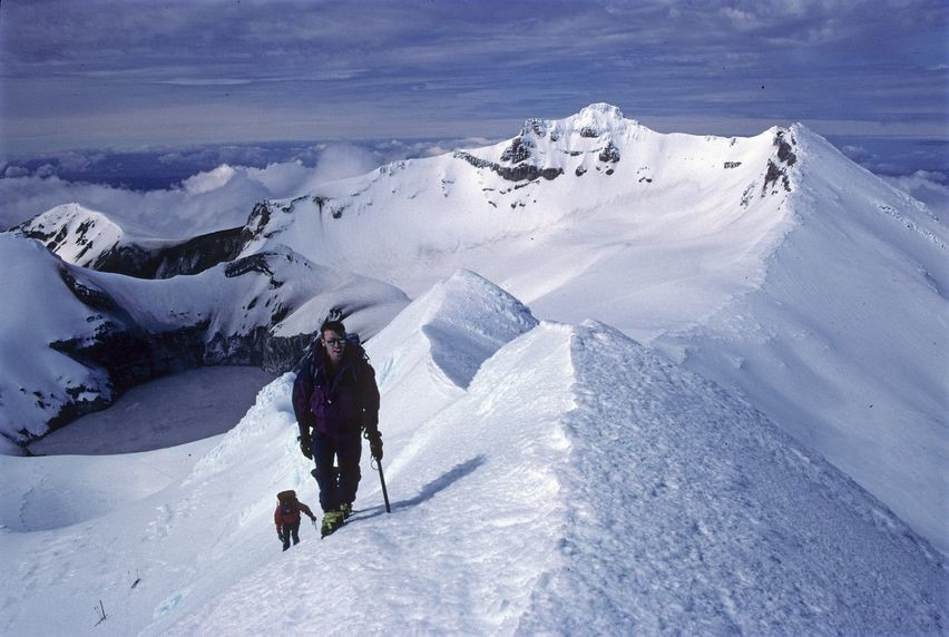 Au sommet du Ruapehu Nord