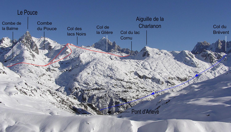 Traversée col Cornu >> Aiguille ou col de Bérard >> Buet village