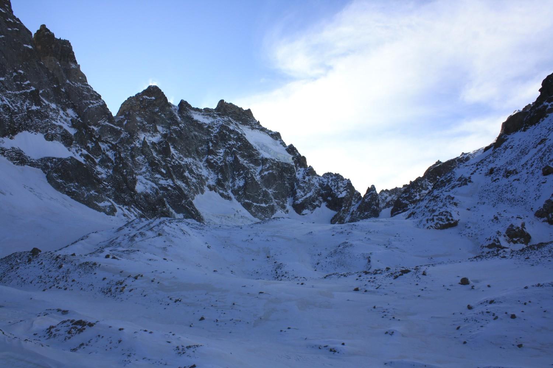 La partie supérieure du Glacier Noir