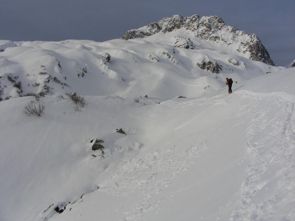 Plaques superficielles lors de la montée au Rognolet par la combe de Brian