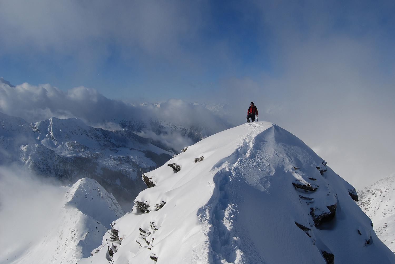 Magica atmosfera sulla Cima Vallocci 2510 m