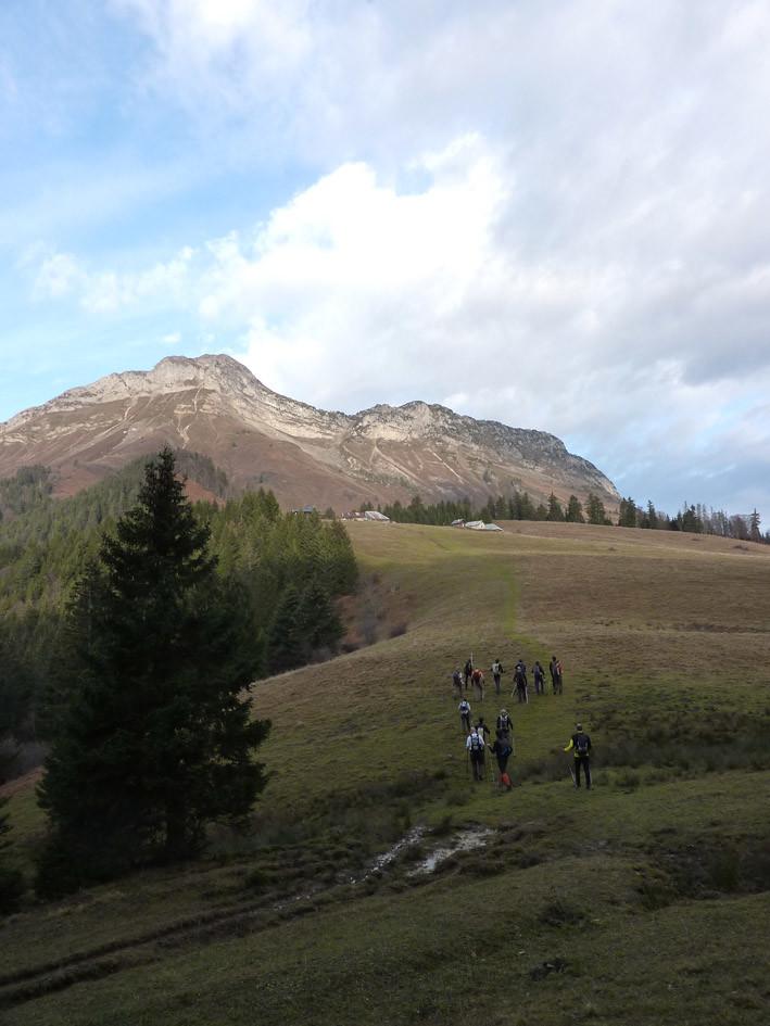 Départ pour le Mt Colombier