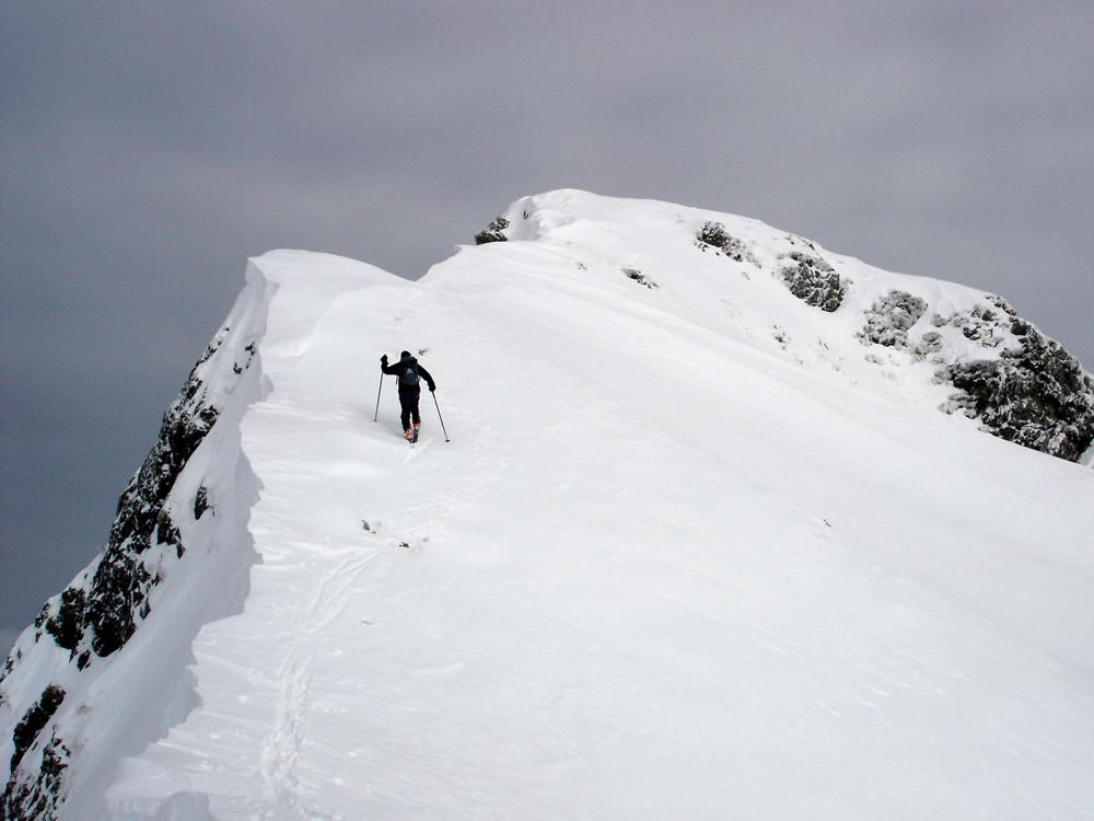 la crestina finale al Monte Verrobbio