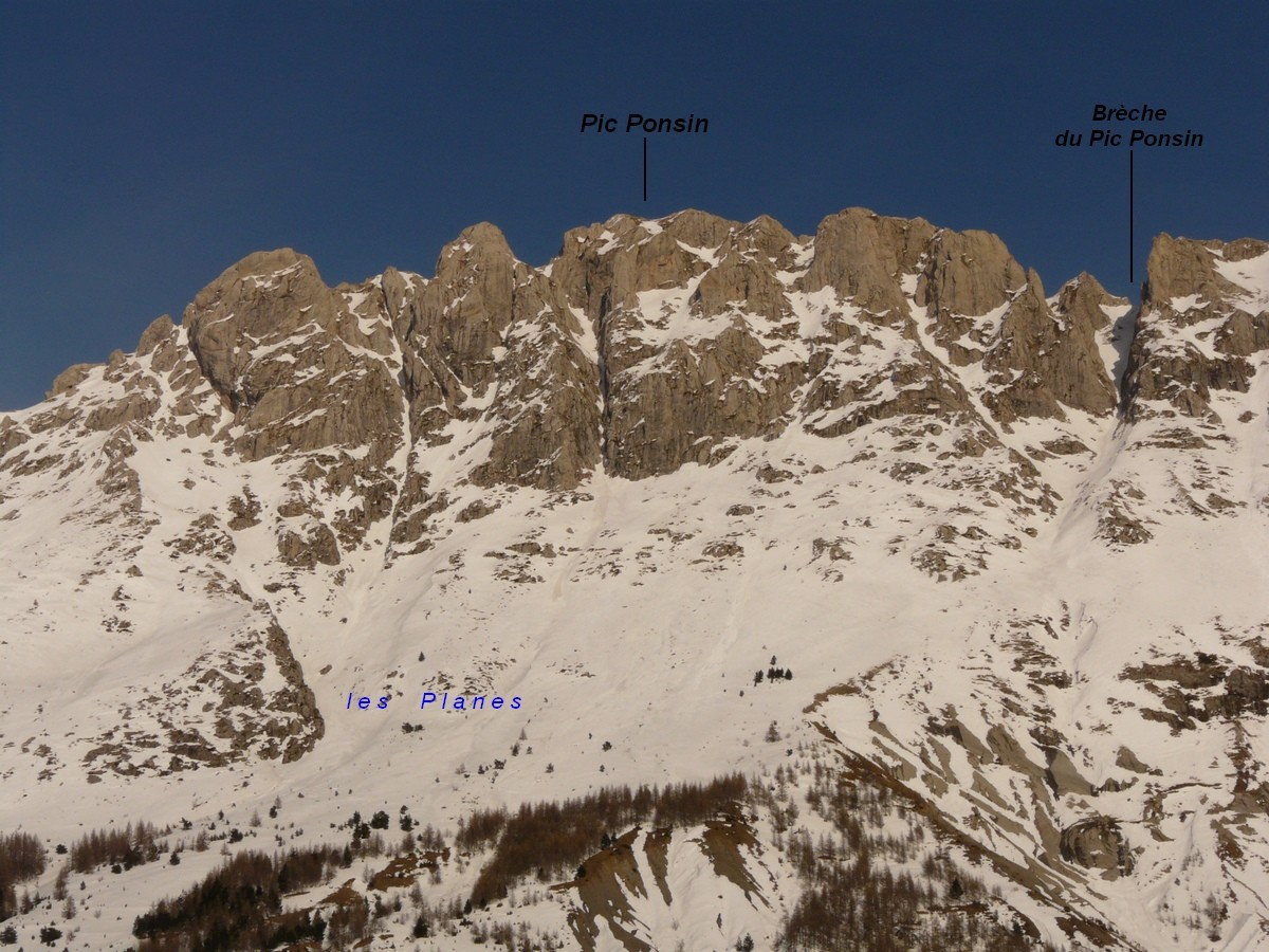 Pic Ponsin - versant W