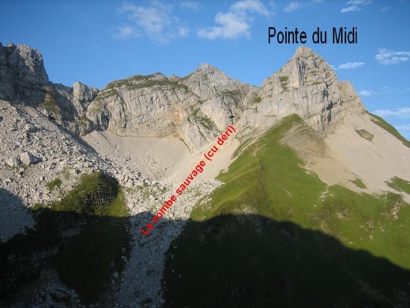 Pointe du Midi et combe sauvage (Cu Déri)