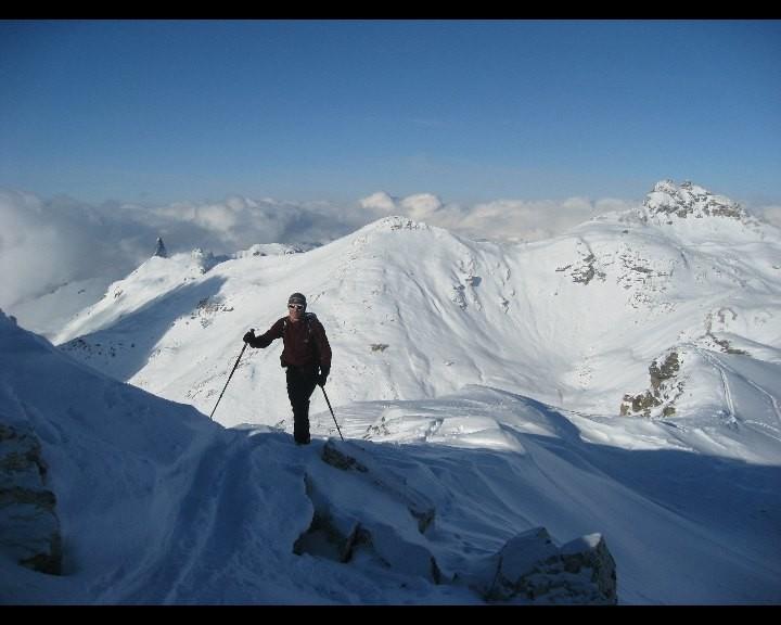 Arrivée au sommet au P. 3046m du Sasseneire