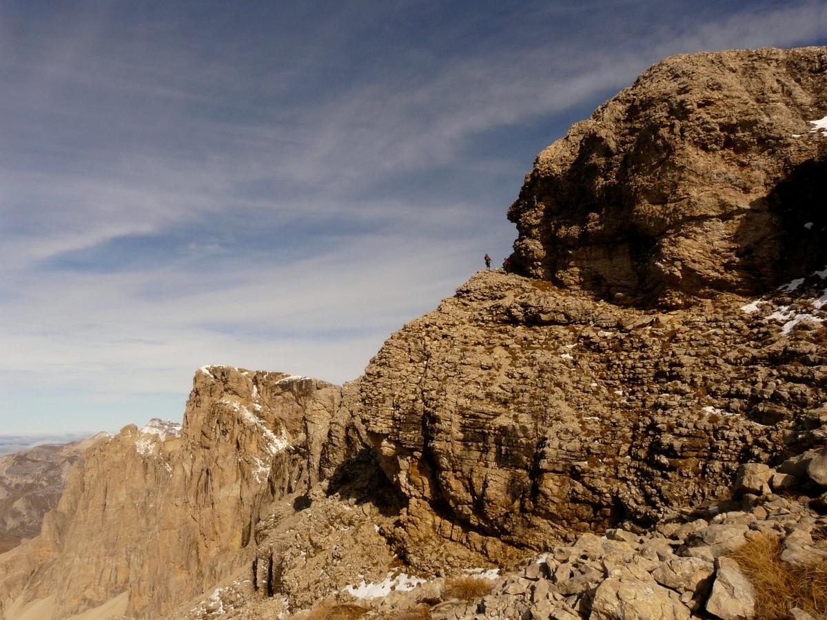 Tête des Pras Arnaud - la vire sous le sommet