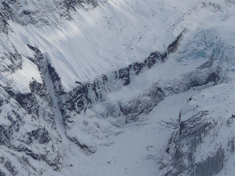 Le bas du glacier d'Argentière