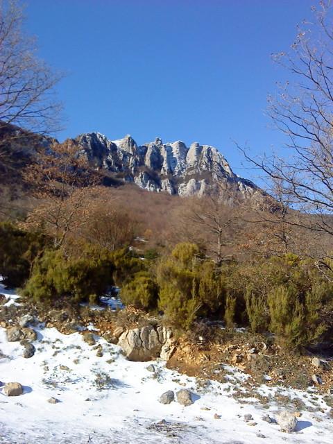 Le Bugarach (face nord-est)