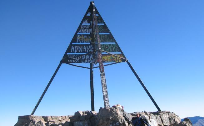 balise - sommet du Toubkal (4167m)