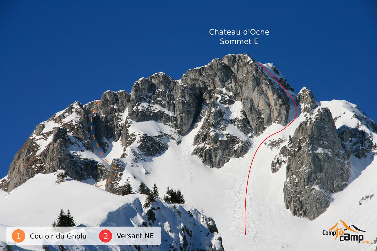 Roc du Chateau d'Oche - versant E