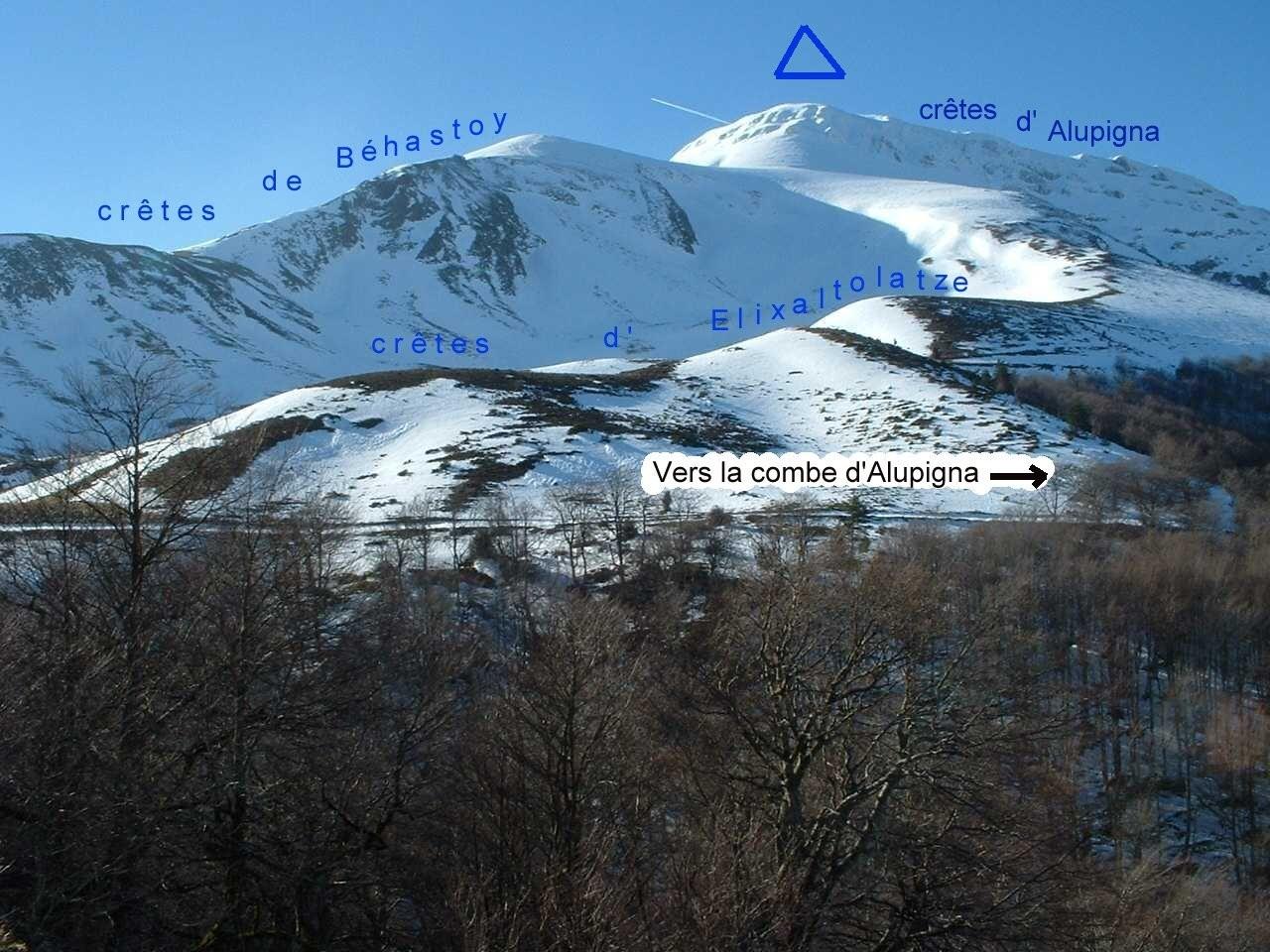 Différents itinéraires par les crêtes (jan. 2006)